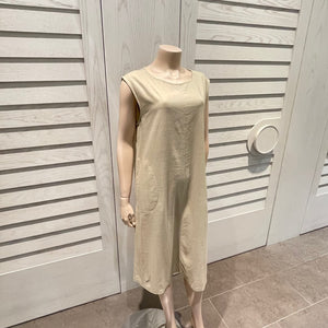 Linen Dress - Beige or Navy