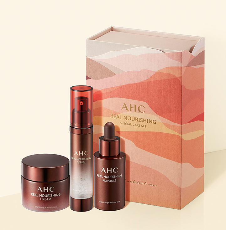AHC Real Nourishing Special Care Set (Serum 25ml + Ampoule 30ml + Cream 50ml)