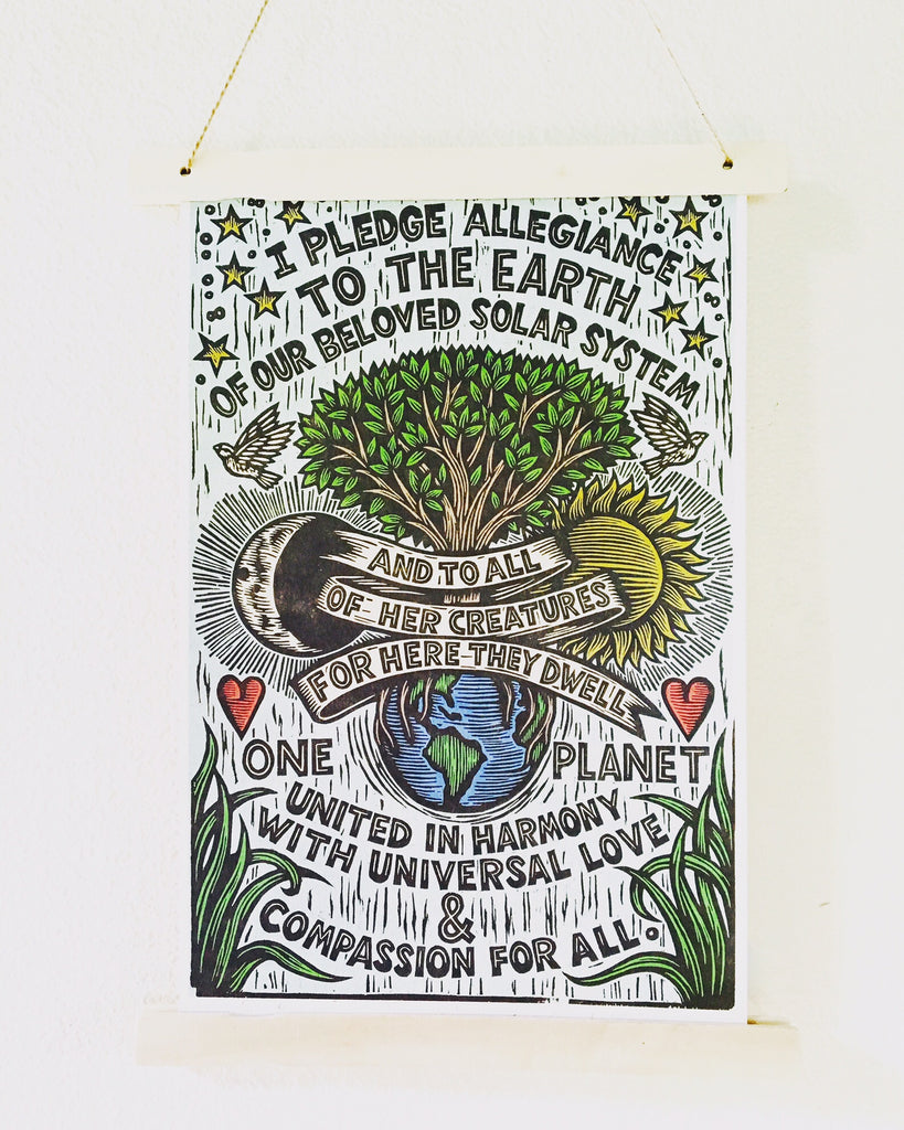 Earth Allegiance Block Print Poster