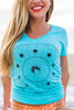 Tunnels Reef Moon Mandala Women's V neck