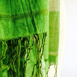 Hand Loomed Silk + Cotton