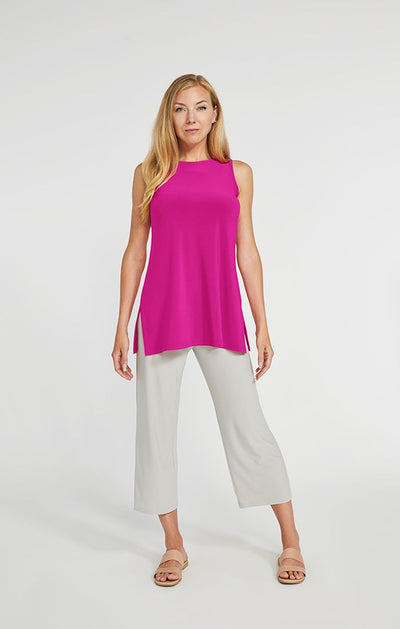 Sympli Sleeveless Nu Ideal Tunic In Flamingo