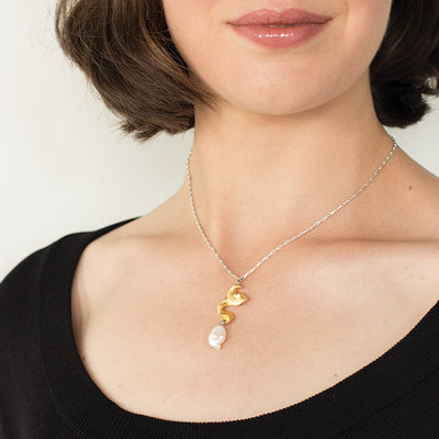 Anne Marie Chagnon Benedict Necklace in Gold or Silver