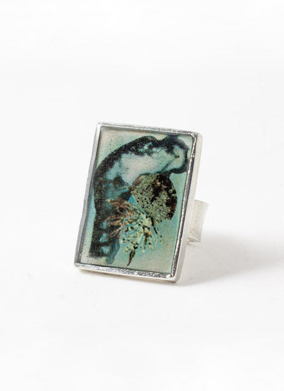 Anne Marie Chagnon Senzo Ring in peacock