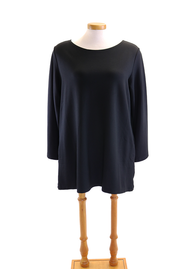 Bryn Walker Longsleeve Twyla Tunic in Black