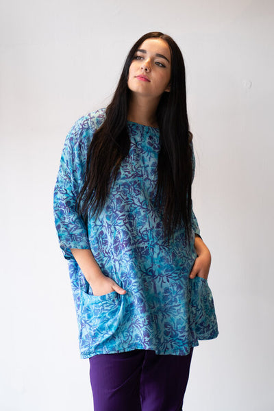 Wardrobe Style Cass tunic in turquoise