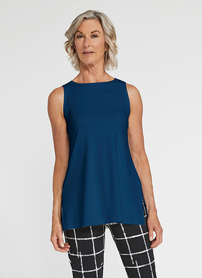 Sympli Sleeveless Nu Ideal Tunic in Denim