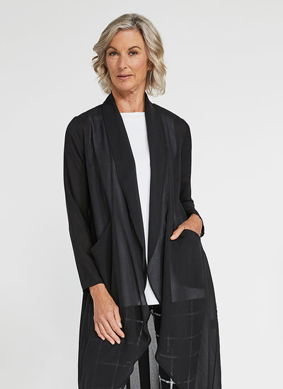 Sympli Whisper Coat in Black