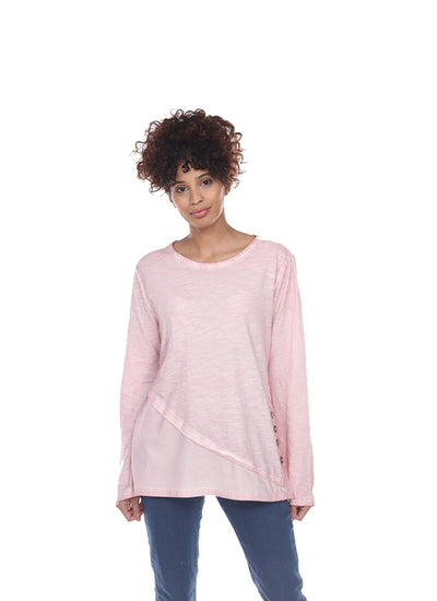 Neon Buddha In Bloom Top in pale pink