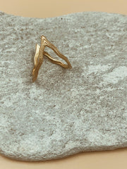 Sculptural Odi Wiggly Ring | 18kt Solid Gold