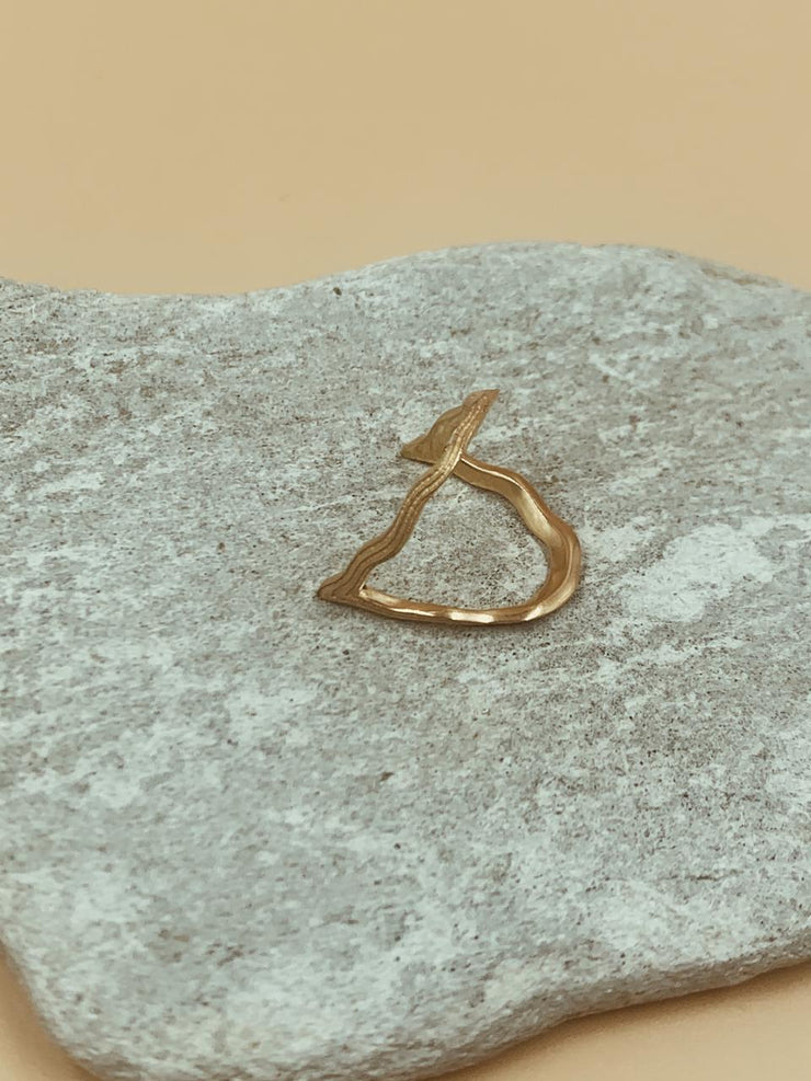 Sculptural Odi Wiggly Ring
