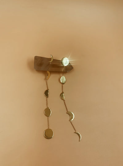 Phases Earrings In Brass