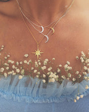 Medium Star Pendant Sterling Silver Necklace