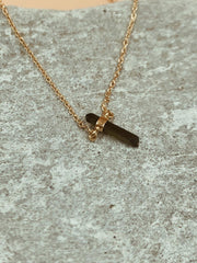 Essence Mini Dark Green Tourmaline Necklace