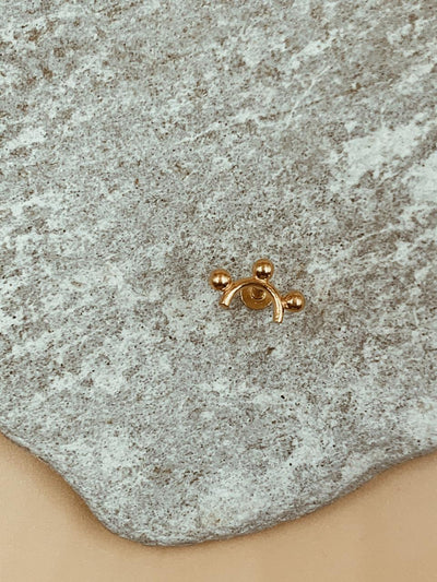 Mie Sun Nose Pin | 18kt Solid Gold