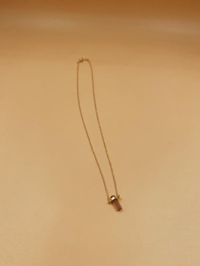 Essence Mini Pink Tourmaline Necklace