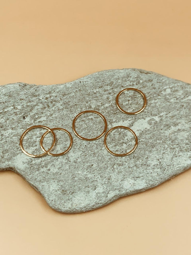 Essential Basic Ring Set of 5 Midi To Thumb in Sterling Silver