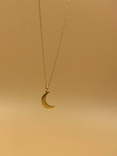 Mama Crescent Moon Sterling Silver Necklace