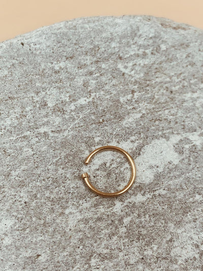 Essential Gold Tone Nose Ring