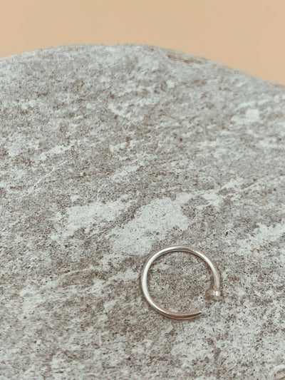 Essential Silver Tone Nose Ring