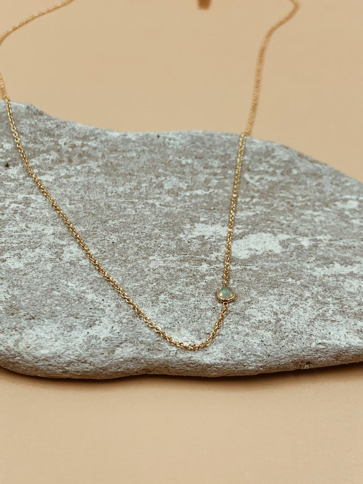 Odxel Opal Bezel Set Necklace