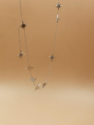 Starburst Sterling Silver Necklace