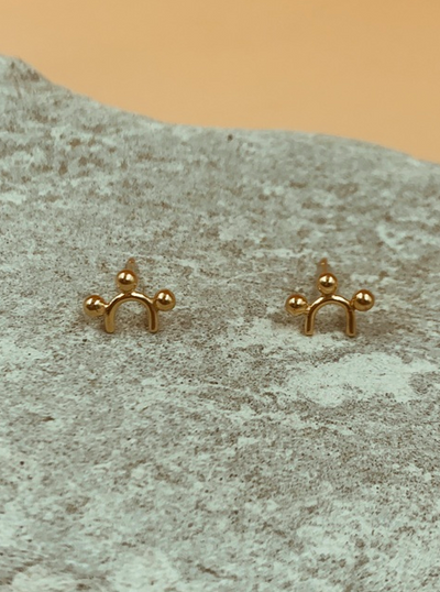 Mie Family Sun Studs | 18kt Solid Gold
