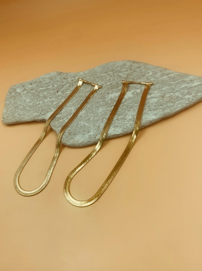 Viper Tall Flat Chain Earrings