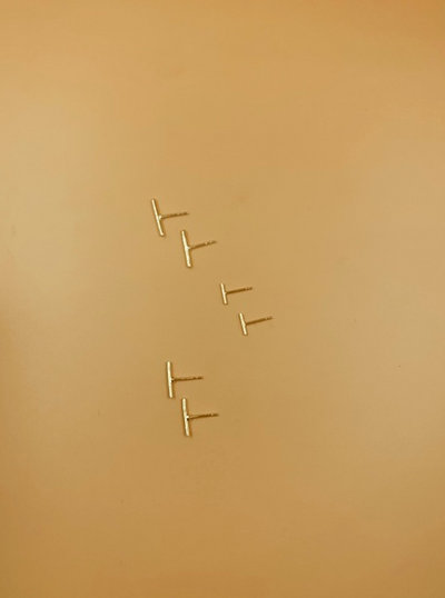 Gold Plated Sterling Silver Stick Studs