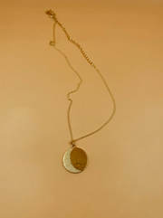 Big Moon Medallion Necklace