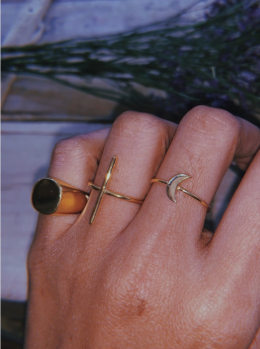 Line Bar Ring | 18kt Solid Gold