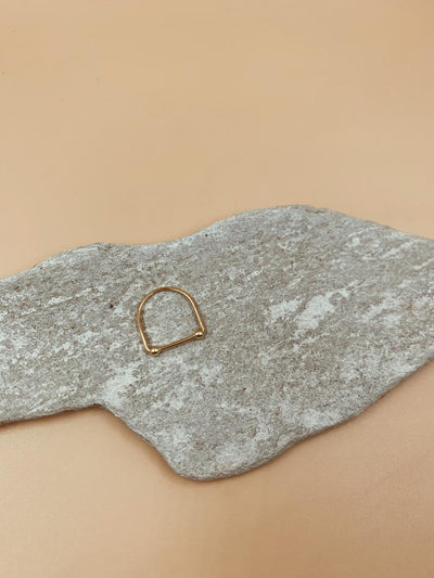 Taliha Dotted Bar Ring In Sterling Silver