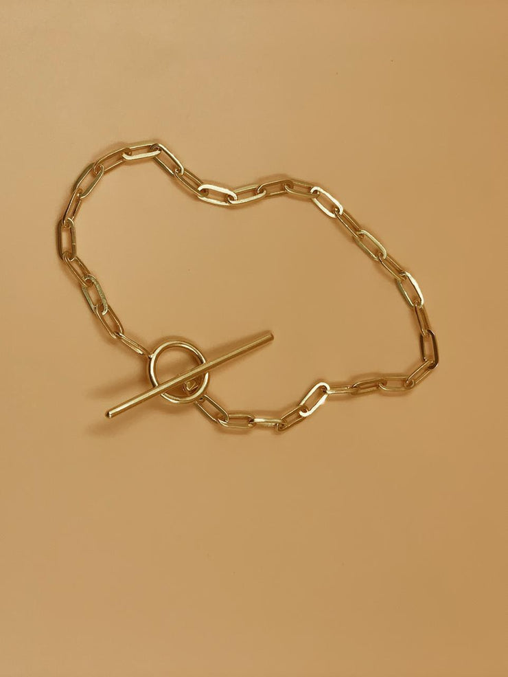 Kaori Toggle Anklet With and Without Charm In Sterling Silver