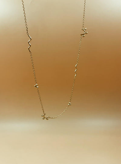 Mie Family Necklace | 18kt Solid Gold