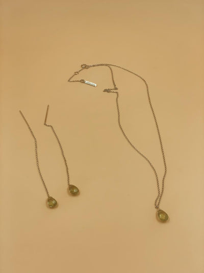 Peridot Prism Threader & Necklace Set