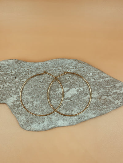 Medium Gold Wire Hoops