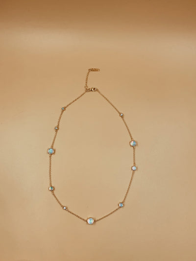 Sidereal period opal necklace – Small