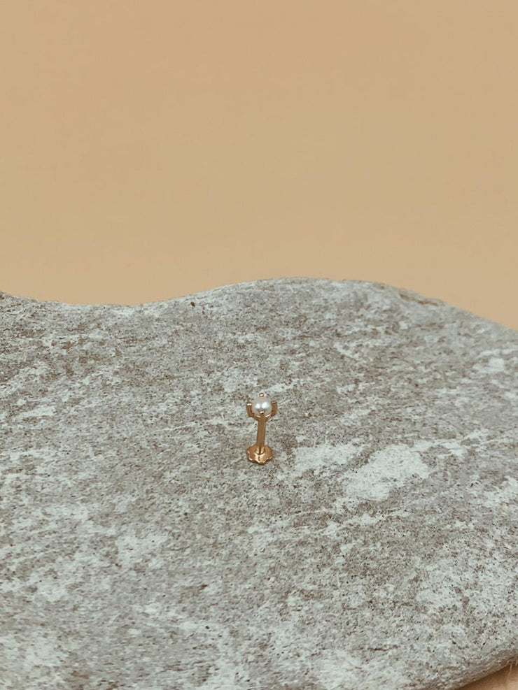 Moondrop Nose Pin | 18kt Solid Gold