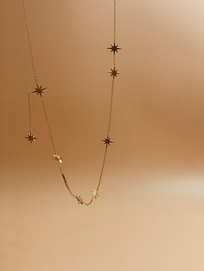 Starburst Brass Necklace