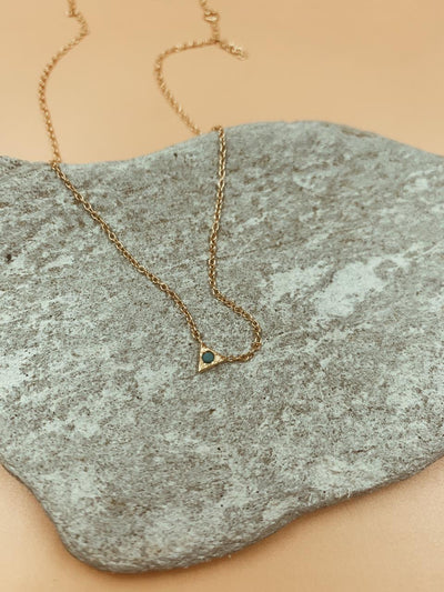 Summer Triangle Turqouise Dot Necklace