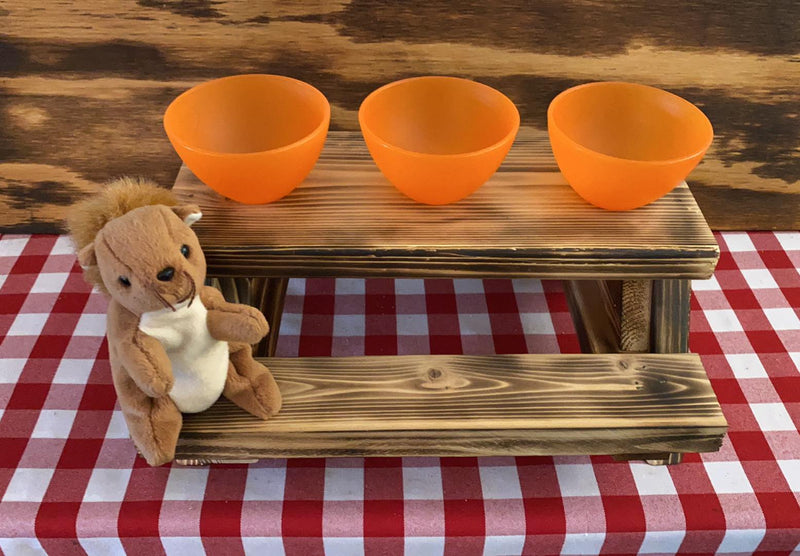 """Room For More Goodies"" Squirrel Buffet Table - - (DECK, GARDEN, PATIO TABLE)"