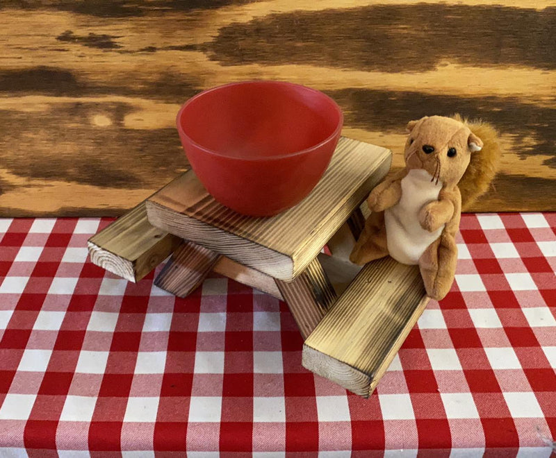 Gift Bundle! (Squirrel Picnic Table + Squirrel Snack Sack + Greeting Card) - TREE INSTALL
