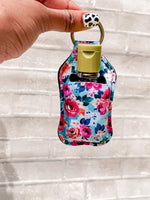 Rose and Blue Hand Sanitizer Holder