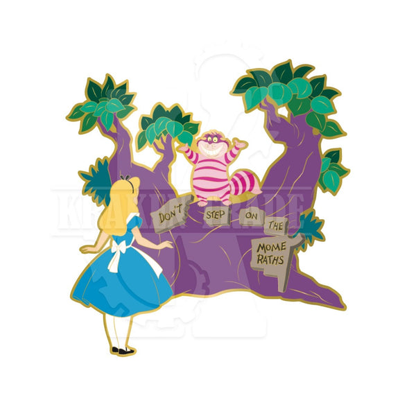 Alice and Cheshire Pin - Limited Edition 600