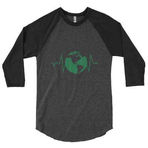 Earth Pulse 3/4 Sleeve Raglan Shirt - Manakin Dance