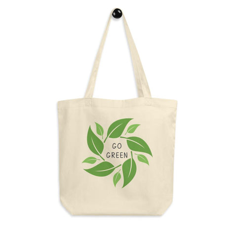 Go Green Eco-Friendly Organic Tote Bag - Manakin Dance