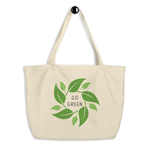 Go Green Large Eco-Friendly Organic Tote Bag - Manakin Dance