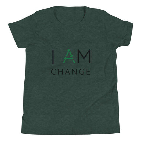 I Am Change Youth Short Sleeve T-Shirt - Manakin Dance