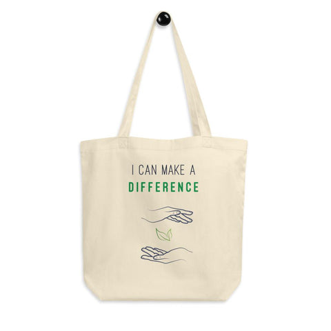 I Can Make A Difference Eco-Friendly Organic Tote Bag - Manakin Dance