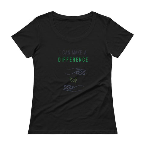 I Can Make A Difference Ladies' Scoopneck T-Shirt - Manakin Dance
